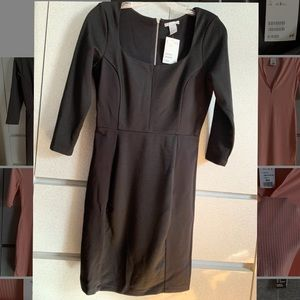 All black long sleeved H&M dress